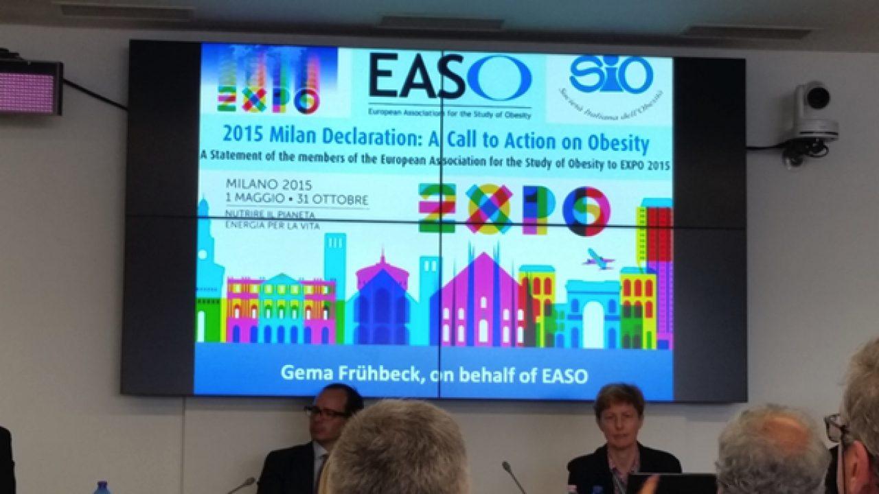 Obesità: presentata all'Expo2015 l'EASO Milan Declaration