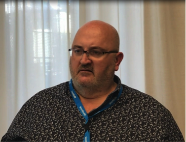 Ken Clare, Presidente in carica dell' EASO Patient Council